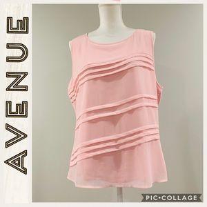 NWT • Avenue • Pink Sleeveless Blouse • Size 14/16